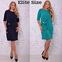 Прямое женское платье в больших размерах f-615120