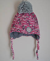 Зимняя детская шапка на флисе для девочки