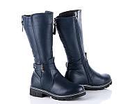 Зимняя обувь Кожаные сапоги для девочек от фирмы Солнце(33-38)