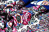 Павлопосадский шерстяной платок цвета электрик Осеннее танго, фото 4