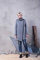 Демисезонное асимметричное женское пальто