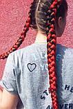 Канекалоновые косички-искусственные волосы из канекалона, боксерские косички, boxer braids- Омбре №28, фото 4