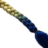 Канекалоновые косы-искусственные волосы из канекалона, боксерские косички, boxer braids- Омбре №24