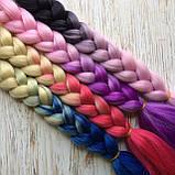 Канекалоновые косички-искусственные волосы из канекалона, боксерские косички, boxer braids- Омбре №28, фото 5