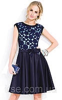 Платье вечернее Mari Zaps темно-синего цвета.