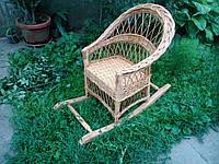 Детское плетеное кресло качалка, фото 1
