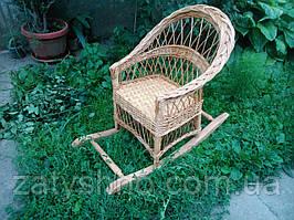 Дитяче плетене крісло качалка