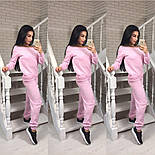 Женский стильный костюм мелкой вязки: свитер со спущенными плечиками и штаны (5 цветов), фото 2