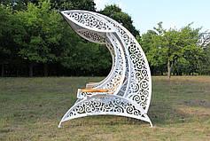 """Садовые качели """"Невеста"""" белого цвета, материал основы сидения - дуб, фото 3"""