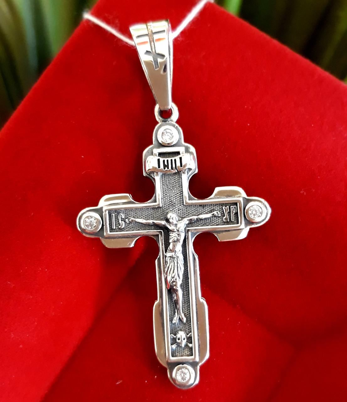 Мужской крест Барака Baraka серебро
