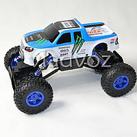 Джип на радио управлении машинка внедорожник модель Rock Crawler синий 1:14