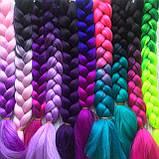 Канекалоновые косички-искусственные волосы из канекалона, боксерские косички, boxer braids- Омбре №28, фото 6