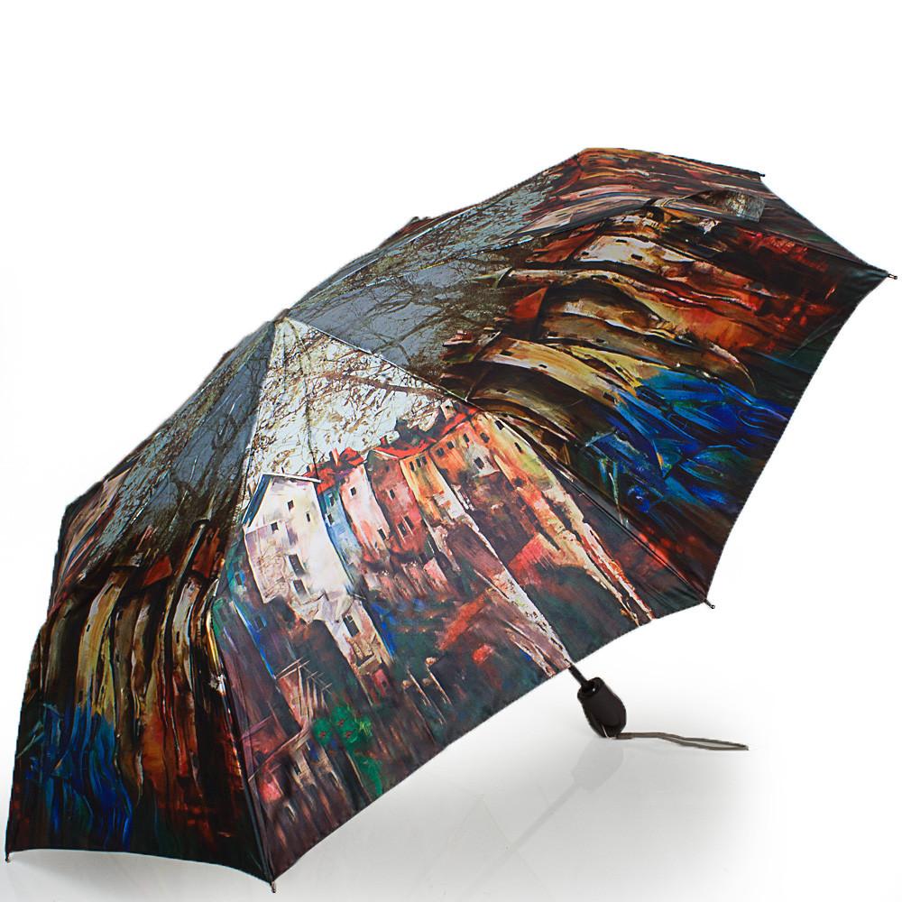 Стильный зонт женский автомат ZEST Z53964-12, цвет разноцветный. Антиветер!