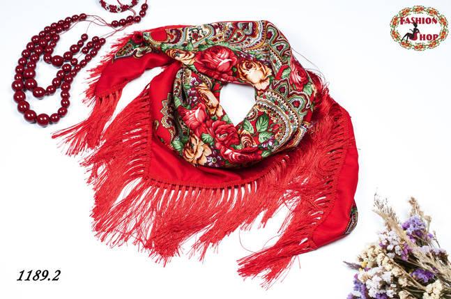 Павлопосадский шерстяной платок  Страна чудес, фото 2