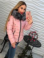 Женская демисезонная куртка с хромовыми заклепками, 3 цвета, р.р 42-48
