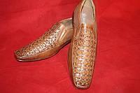Туфли классика (коричневая сетка)