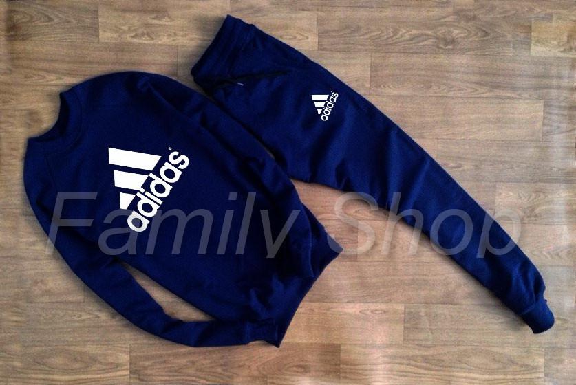 37a7dbdc УТЕПЛЕННЫЙ Спортивный костюм Adidas Адидас темно синий (РЕПЛИКА), цена 779  грн., купить в Днепре — Prom.ua (ID#581686381)