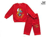 """Теплый костюм """"Смурфики"""" для девочки. 5 лет, фото 1"""
