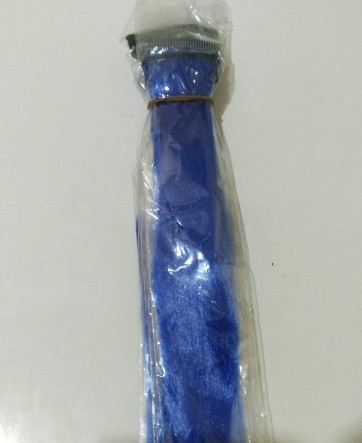 Разноцветные пряди для волос 50 см синий