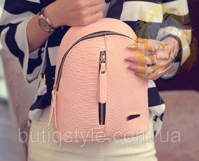 9cfbae320026 Стильный женский рюкзак на молнии пудра, черный -