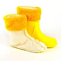 416613 вставка для сапог девочка Желтый, фото 1