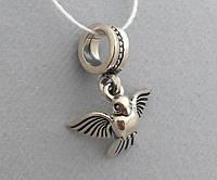 """Серебряная подвеска-шарм для Pandora """"Голубь Мира""""  Арт.0058931"""
