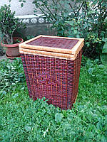 Плетеная корзина для белья, фото 1