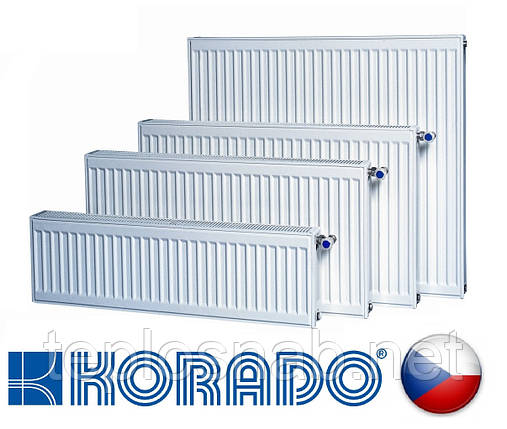 Стальной радиатор KORADO VK 22 тип 500 х 1600 нижнее подключение (Чехия), фото 2