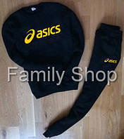 ТЕПЛЫЙ Спортивный костюм Asics АсиКСЗ черный (РЕПЛИКА)