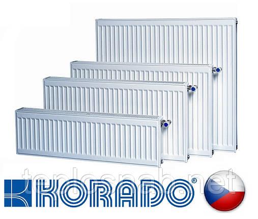 Стальной радиатор KORADO VK 22 тип 300 х 1100 нижнее подключение (Чехия), фото 2