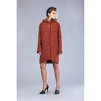 3afe6f73a03 Демисезонное женское пальто прямого силуэта с асимметричным низом Sappo TM