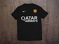 Клубная футболка Барселона, Barcelona, черная, Ф3561