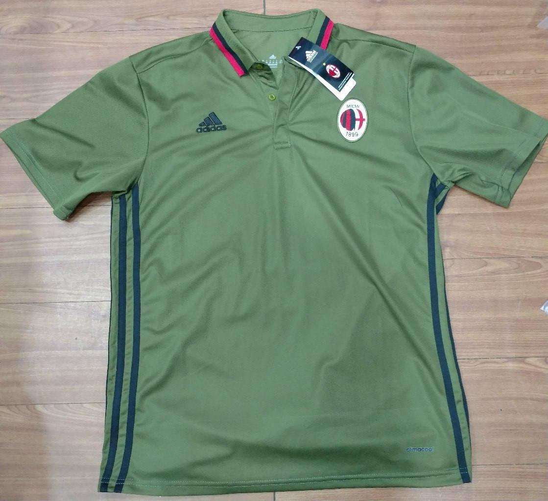 bc1376ab4683e5f Клубная футболка поло Милан, Milan, зеленая, Ф3611 - Интернет - магазин  спортивной одежды