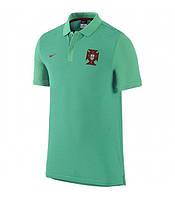 Клубная футболка поло сборная Португалия, Portugal, зеленая, салатовая, евро 2016, Ф3618