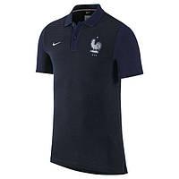 Клубная футболка поло сборная Франции, France, черная, евро 2016, Ф3634