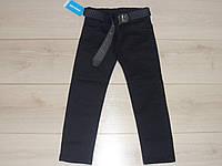Брюки для мальчика темно-синие, размер 6-9 лет