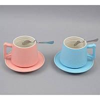 Чашка с блюдцем Размер: чашка - 8*7 см., блюдце - 14 см.
