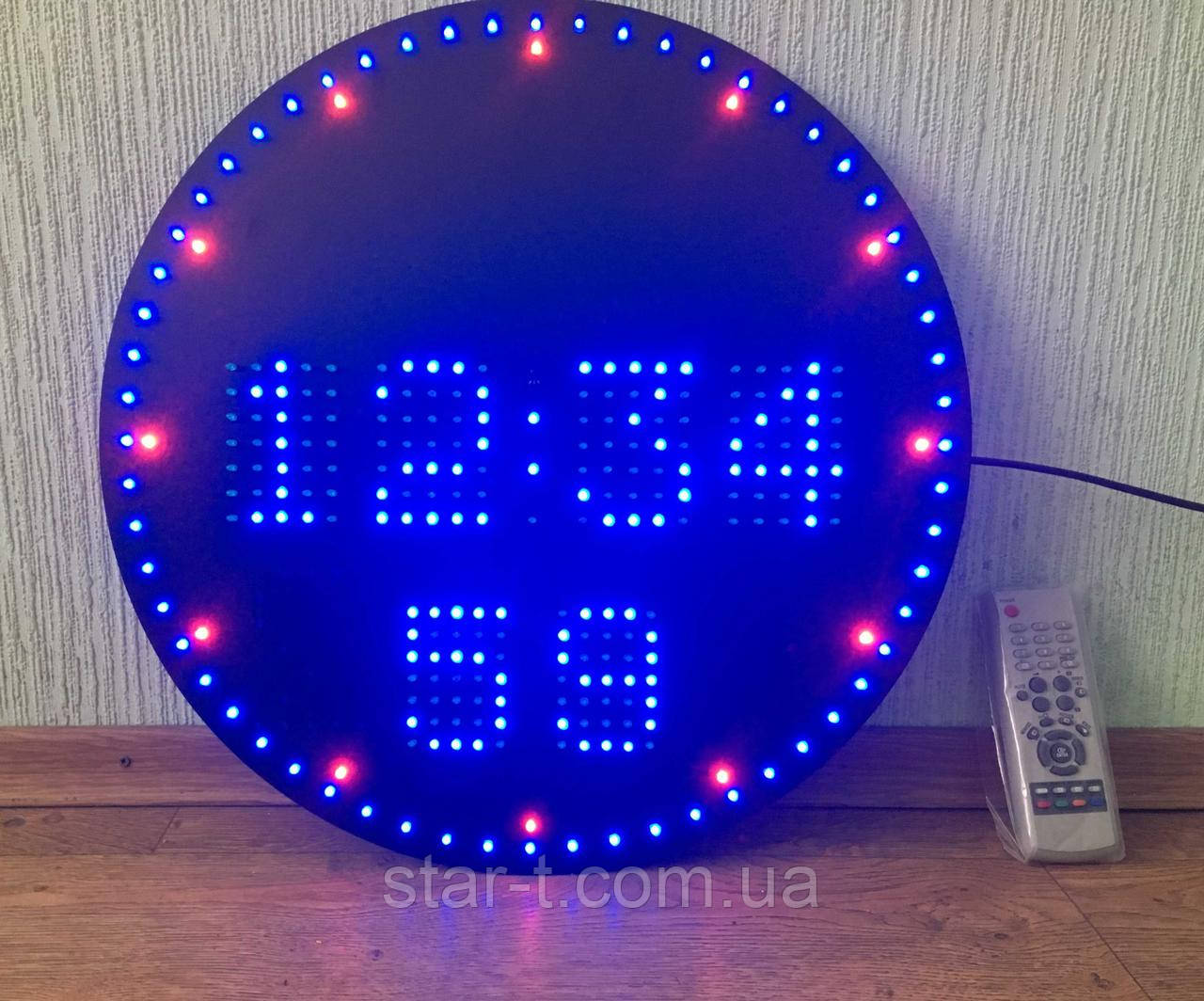 Светодиодные круглые часы.