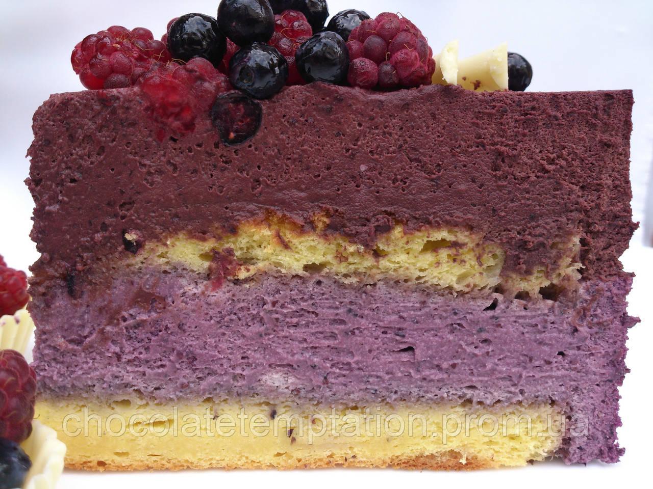 Черничный муссовый торт