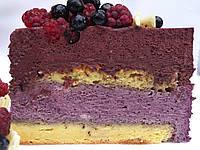 Черничный муссовый торт, фото 1