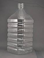 ПЭТ баклажка для воды 6л.квадрат