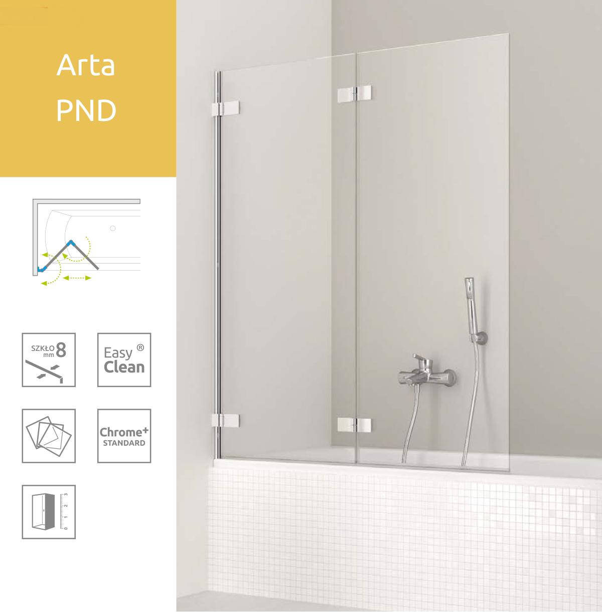 Шторка для ванны Radaway Arta PND