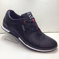 """Мужские кожаные кроссовки """"Nike"""" черные, фото 1"""