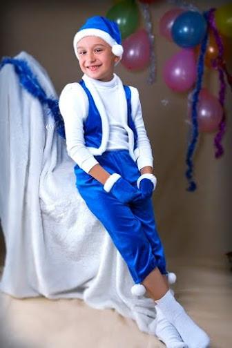 Карнавальный костюм «Гномик» синий