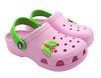 Детские кроксы сабо оптом (20-27) розовый, фото 1