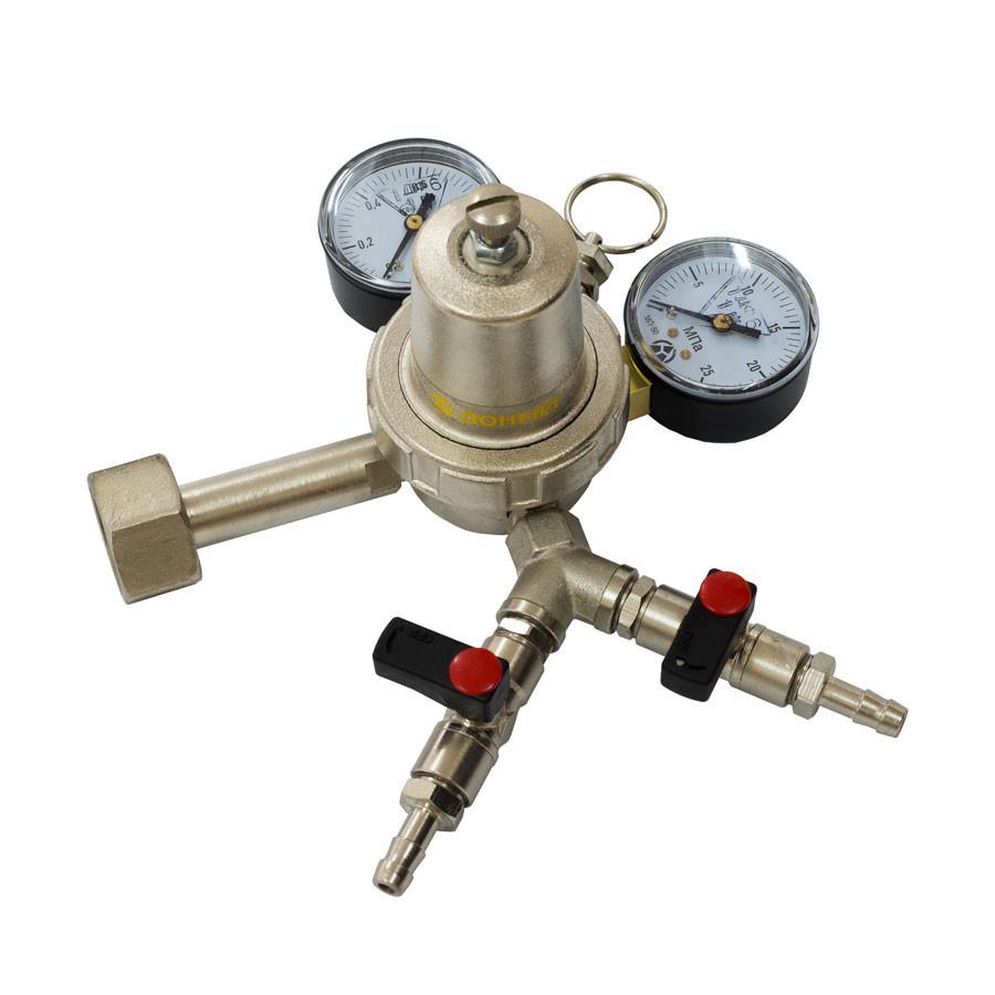 Углекислотный редуктор пищевой УРП-4-4ДМ два крана G1/4