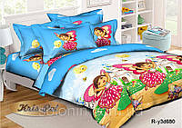 """Красочное постельное бельё для девочки """"Дора"""" ."""