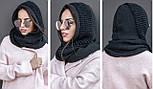 Жіночий шарф-хомут (шапка-капор) (5 кольорів), фото 2