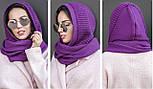 Женский шарф-хомут (шапка-капор) (5 цветов), фото 4