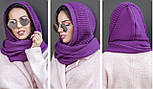 Жіночий шарф-хомут (шапка-капор) (5 кольорів), фото 4